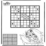 Håndarbejde - Sudoku dolphin