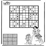 Håndarbejde - Sudoku snow white
