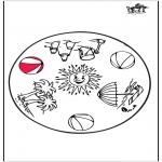 Mandala-malesider - Summer mandala