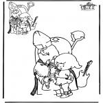 Prik-kort - Teken af Sint