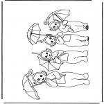 Børne-malesider - Teletubbies 4