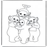 Børne-malesider - Teletubbies 7
