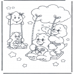 Børne-malesider - The Care Bears 13