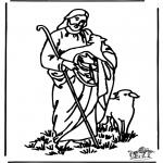 Bibel-malesider - The good shepherd 4