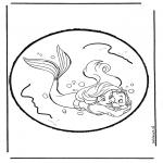 Prik-kort - The little  Mermaid