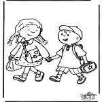 Børne-malesider - To school 3