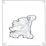 Børne-malesider - Toddler in buggy