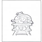 Børne-malesider - Toddler on chair