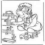 Børne-malesider - Toy farm