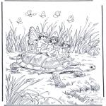 Dyre-malesider - Turtle with elf
