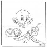 Sjove figurer - Tweety eats