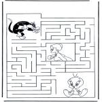 Håndarbejde - Tweety labyrinth