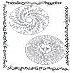 Mandala-malesider - Two mandalas 7