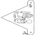 Prik-kort - Vlaggetje Sint 4