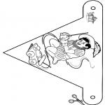 Prik-kort - Vlaggetje Sint 5