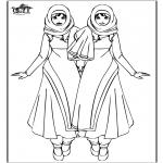 Børne-malesider - Warda girls