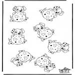 Håndarbejde - Whichone is different 101 Dalmatians