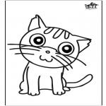 Håndarbejde - Window color cat