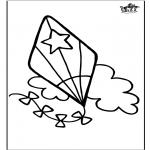 Håndarbejde - Window color Kite
