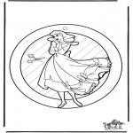 Håndarbejde - Window picture Cinderella