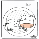 Håndarbejde - Window picture cow 1