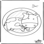 Håndarbejde - Window picture cow 2