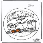 Håndarbejde - Window picture Fungus