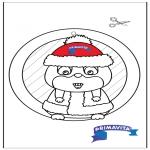 Håndarbejde - Window picture - Hamster 2