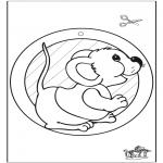 Håndarbejde - Window picture mouse