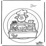 Håndarbejde - Windowpicture baker