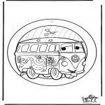 Håndarbejde - Windowpicture Cars