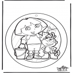 Håndarbejde - Windowpicture Dora 1