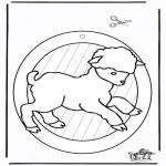 Håndarbejde - Windowpicture sheep