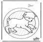 Windowpicture sheep