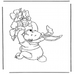 Tema-malesider - Winnie the Pooh like Easter bunny