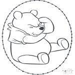 Sy-kort - Winnie the Pooh stitchingcard 1