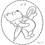 Sy-kort - Winnie the Pooh stitchingcard 2
