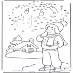 Vinter-malesider - Winter number drawing 1