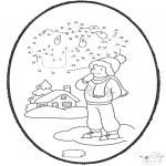 Vinter-malesider - Winter prickingcard 1