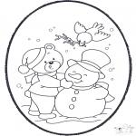 Vinter-malesider - Winter prickingcard 2