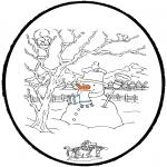 Vinter-malesider - Winter prickingcard 4