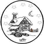 Vinter-malesider - Winter prickingcard 5