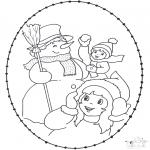 Vinter-malesider - Winter sticking card 2