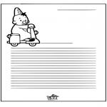 Håndarbejde - Writing paper Bumba