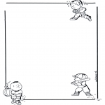 Håndarbejde - Writing paper children 1