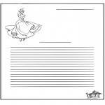 Håndarbejde - Writing paper Cinderella