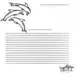 Håndarbejde - Writing paper dolfin