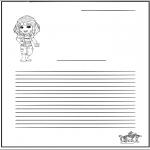 Håndarbejde - Writing paper girl