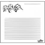Håndarbejde - Writing paper K3