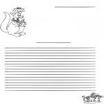 Håndarbejde - Writing paper kangaroo